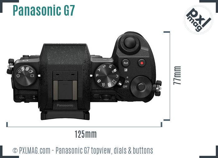 Panasonic Lumix DMC-G7 topview buttons dials