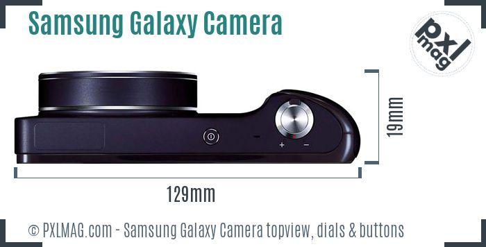 Samsung Galaxy Camera topview buttons dials
