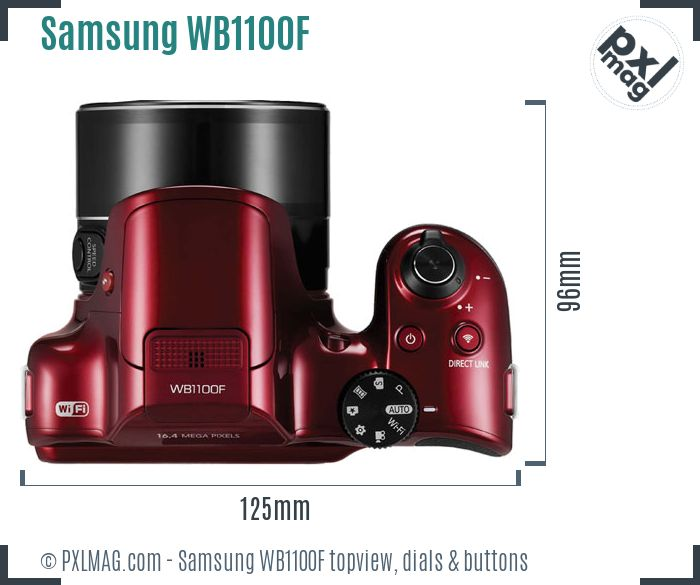 Samsung WB1100F topview buttons dials