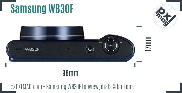 Samsung WB30F topview buttons dials
