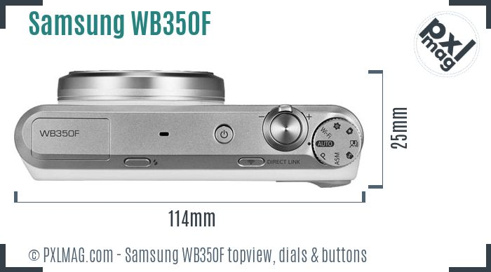 Samsung WB350F topview buttons dials