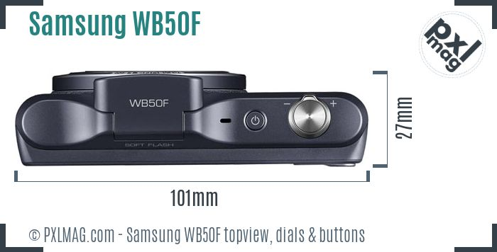 Samsung WB50F topview buttons dials