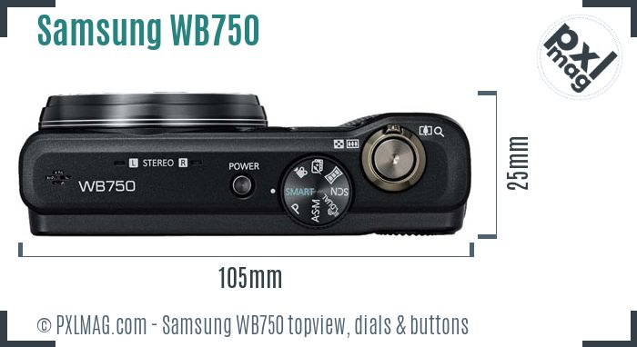 Samsung WB750 topview buttons dials