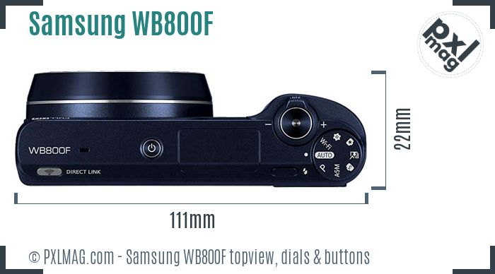 Samsung WB800F topview buttons dials
