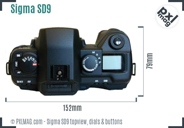 Sigma SD9 topview buttons dials