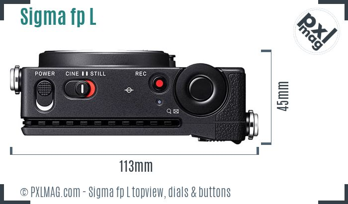 Sigma fp L topview buttons dials