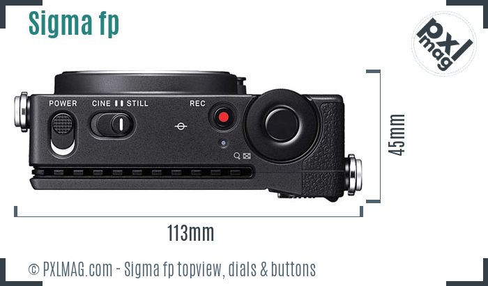 Sigma fp topview buttons dials