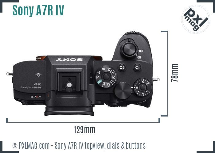 Sony Alpha A7R IV topview buttons dials
