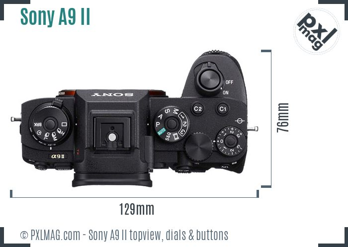 Sony Alpha A9 Mark II topview buttons dials
