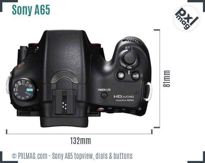 Sony SLT-A65 topview buttons dials