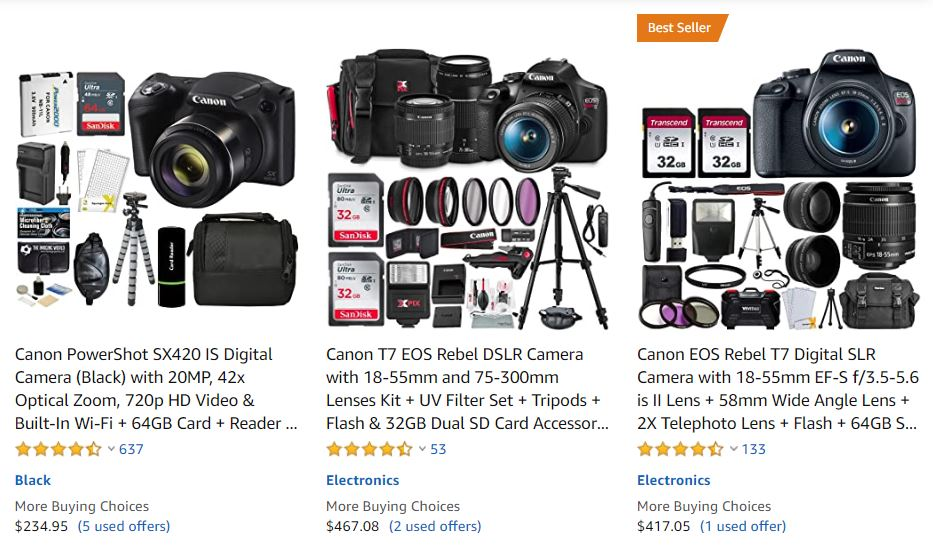 That Amazon camera bundle might just be 'Rejected' products